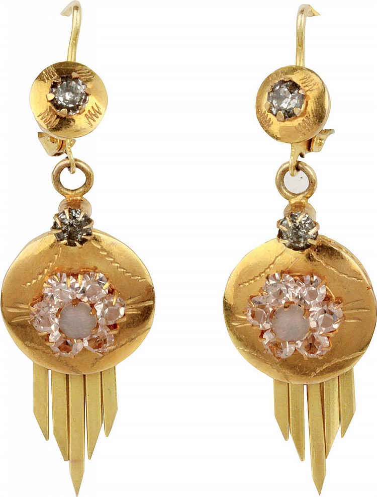 Ancient gold earrings, early 20th cent.