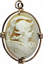 Ancient shell cameo,end of 19th cent.