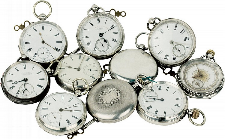 Lot of 10 pocket watches.