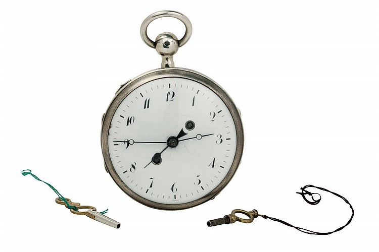 Pocket Watch Castaing Lyon, with alarm, XIX century