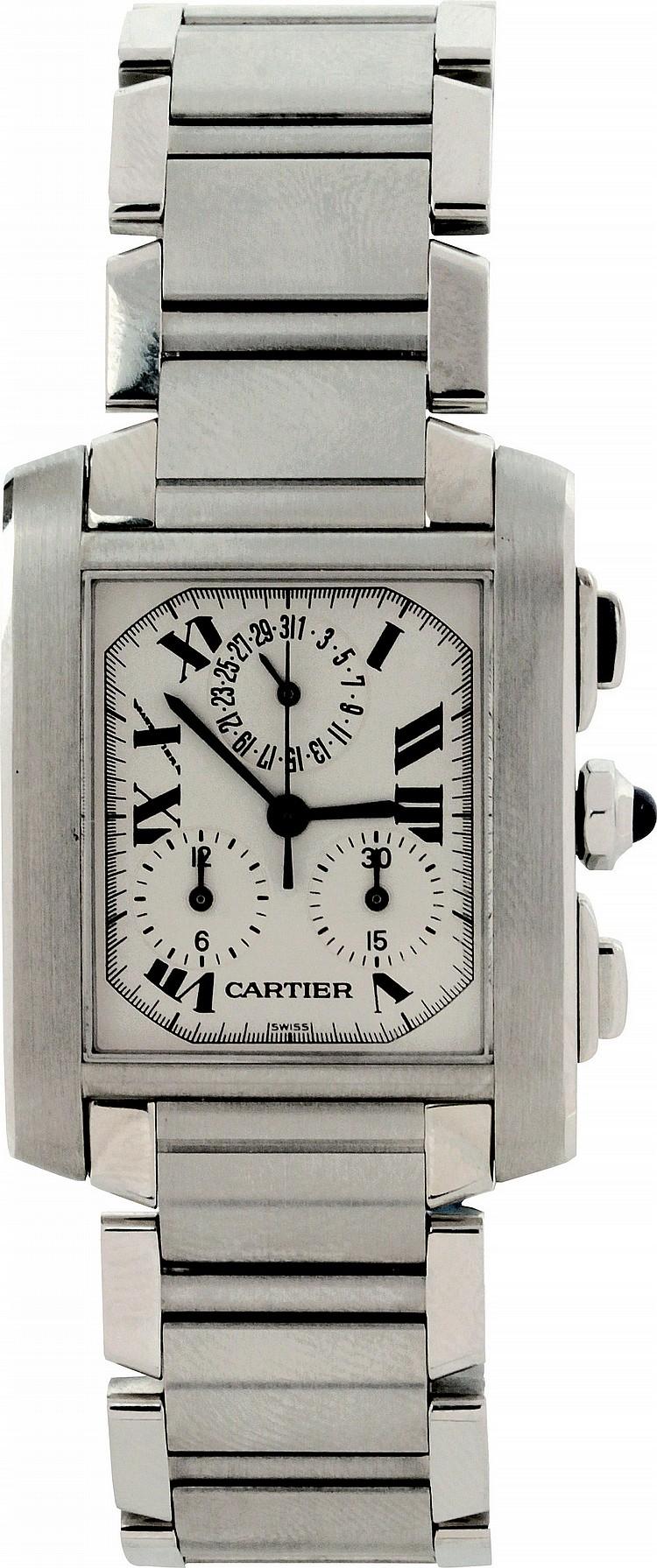 Cartier Tank Francaise Chrono Reflex, cronograph and calendar, ref. 2303