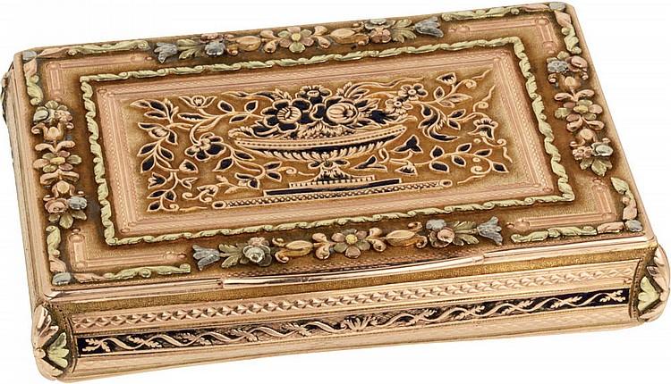 Ancient goldsnuff-box, 19th cent.