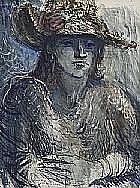 James Wigley Out Back Woman, 1970 ink, watercolour