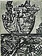 Jan Senbergs Leaving Port, 1992 lithograph 57 x 43, Jan Senbergs, Click for value