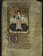 Enluminure du XVème siècle - Une sainte