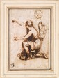 Francesco MOLA, attribué à - Jeune fille agenouillée...