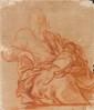 Luca GIORDANO - Vierge tenant dans ses bras l'enfant endormi