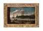 Gottfried WALS ou Goffredo Tedesco, attribué à - Vue d'un port...