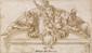 Francesco CURIA - Projet de lunette avec saint Michel...