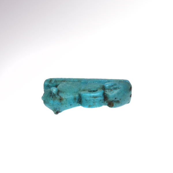 Egyptian turquoise blue faience couchant lion 26th dynasty for Faience turquoise
