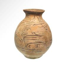 Large Indus Valley, Mohenjodaro Terracotta Vase, c. 2500-2400 B.C.
