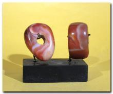 Two Near Eastern Agate Axe Amulets, c. 2nd Millennium B.C.