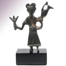 Amlash Bronze Figure Pendant, c. Late 2nd Millennium B.C.