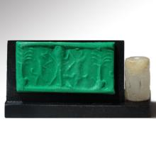 Rock Crystal Cylinder Seal, South East Persia, c. 2300 - 2100 B.C.