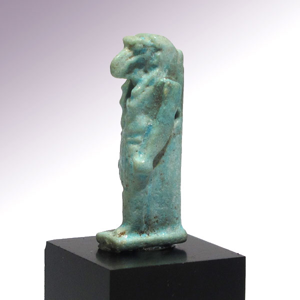 Egyptian turquoise faience amulet of the ibis headed god th for Faience turquoise