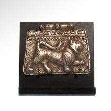 Medieval Silver Plaque with Lion, c. 11th Century A.D.