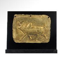 Achaemenid Gold Bull Plaque, c. 550-330 B.C.