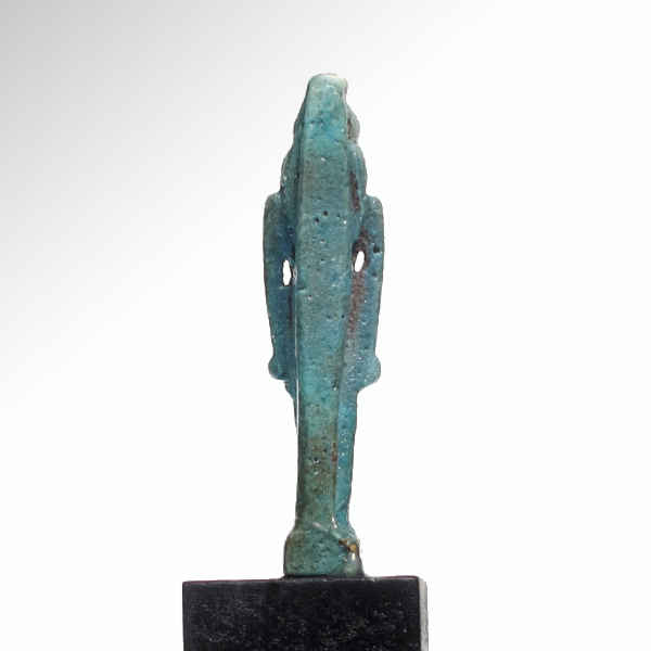Egyptian turquoise faience amulet of anthropomorphic horus for Faience turquoise