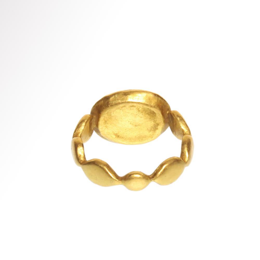 74e28626e3617 Roman Solid Gold Ring with Cornelian Minerva Intaglio, c. 2nd-3rd ...
