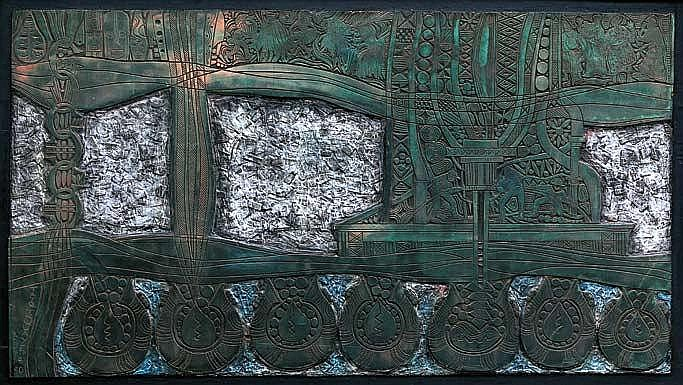 TAYO QUAYE (b. 1954) UNTITLED 1990 Plastocast on