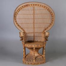 Armchair, rattan, 1900 the second half