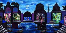 Moonlight - Temples at Banaras