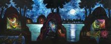 Manu Parekh 1939 Moonlight Prayer in Banaras