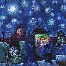 Manu Parekh 1939 - Starry Night