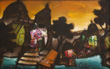 Manu Parekh - Banaras at Sunrise
