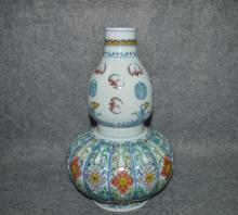 Chinese Blue and White Doucai Porcelain Gourd Vase