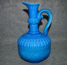 Peacock Blue Porcelain Monk's Cap Ewer