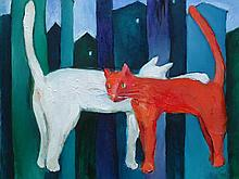 MIRO BIALY, LEVITATING CATS