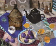 White Inez, 'Still Life with Figs', 50/60 cm, 19.7/23.6 in
