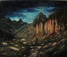 Romaniak Ewa, 'Pyrenees Pic d'Alba (mountain series)', 89/106 cm, 35/41.7 in