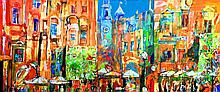 Ludwin Krzysztof, 'Urban composition of Cracow', 50/120 cm, 19.7/47.3 in