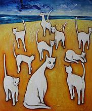 Biały Miro, Cats on the beach, 2016