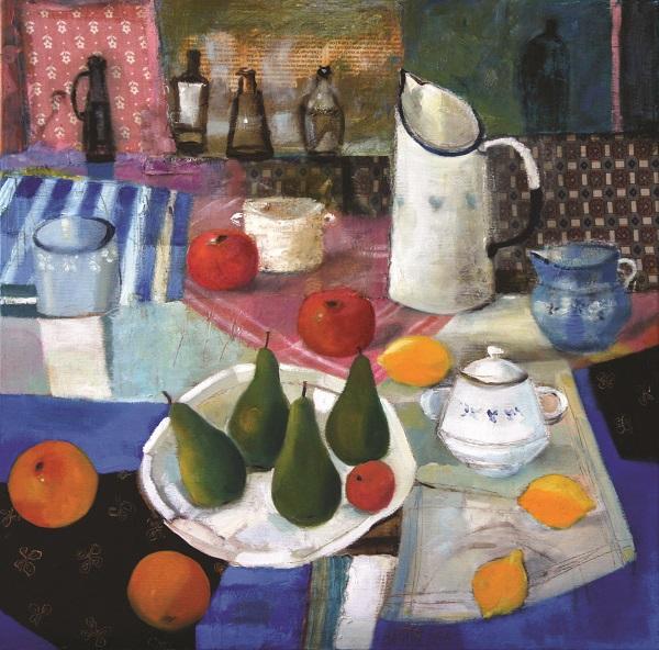 Inez White (b. 1966), Still life with fruits, 2016