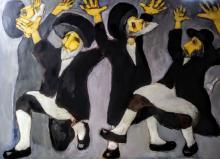 Miro Biały, Hasids Dancing, 2021