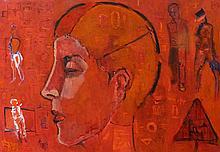 MYJAK OLEK, PORTRAIT IN RED