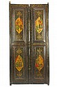 ANTIQUE TWO PERSIAN, GHAJAR STYLE LACQUERED DOOR