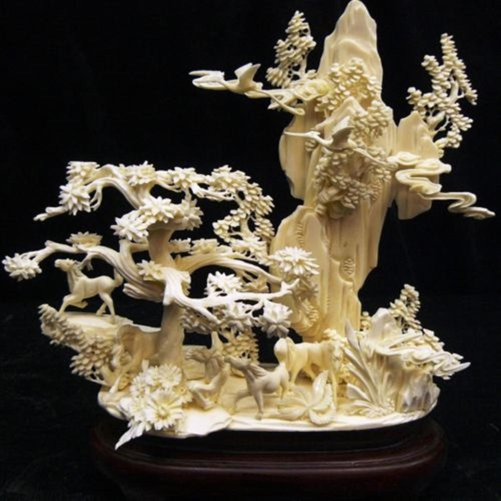 Bone Carving Horses Mountain