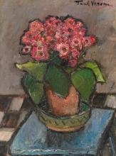 Paul Verona, Pot with Geraniums