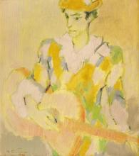 Augustin Costinescu, Harlequin with Guitar