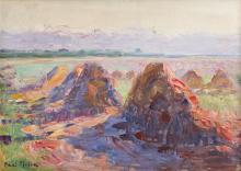 Paul Molda, Haystacks at Sunset