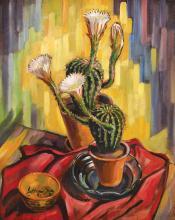 Carol Hübner, Still life with cactus