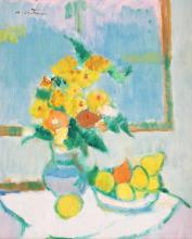 Augustin Costinescu, Still life with lemons and jug with marigolds