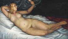Carol Hübner, Nude with a Mirror