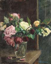 Alexandru Moscu, Glass with Roses