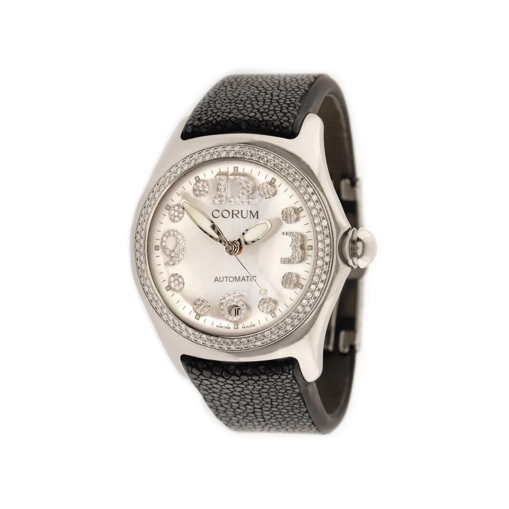 Corum Bubble Diamonds wristwatch, men, decorated with diamonds