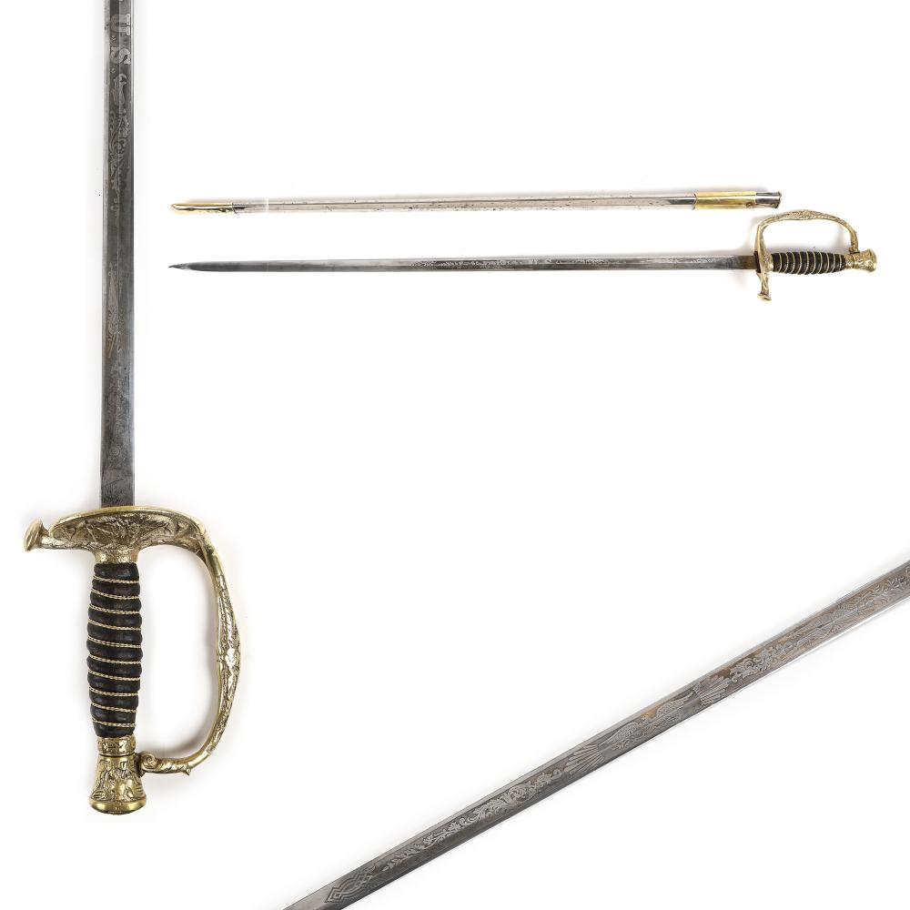 Officer's sword, model 1860, American army, with sheath, early 20th century
